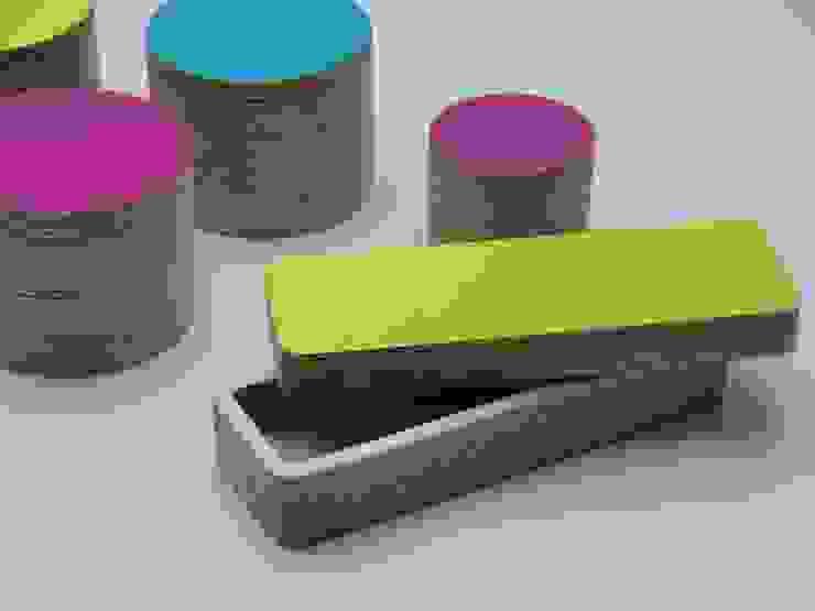 Stiftebox Limetten- Grün von farbdoktor Minimalistisch Holz Holznachbildung