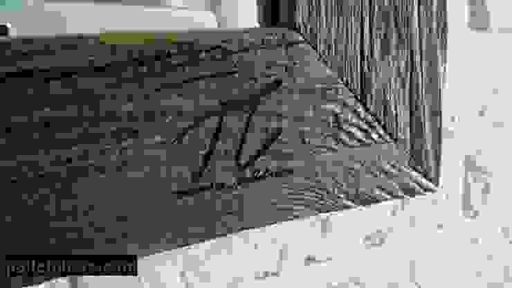 Lustro ze starego drewna od Palletideas Skandynawski