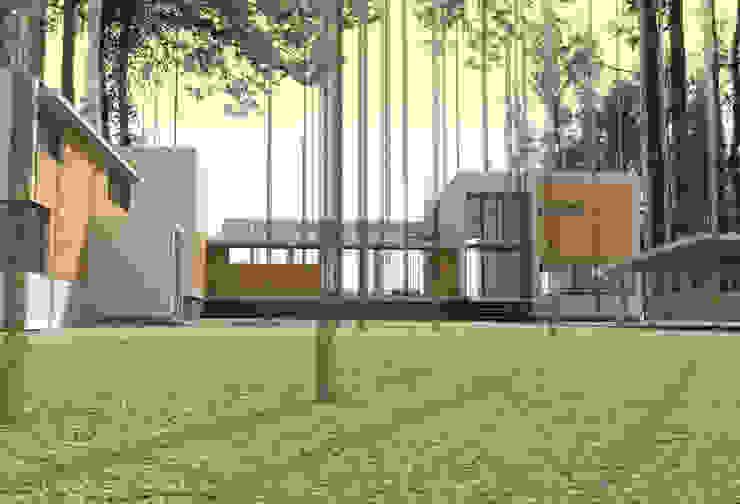 Дом на берегу Финского залива Зимний сад в стиле модерн от Format A5 Fontanka Модерн