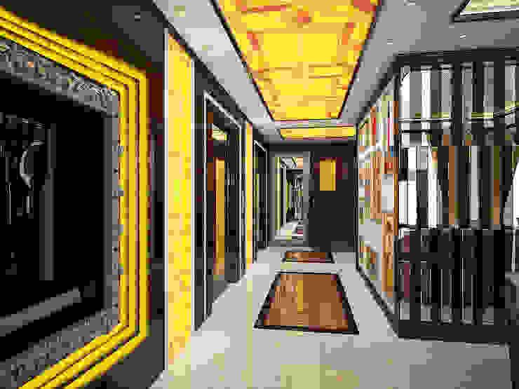 Шик Коридор, прихожая и лестница в эклектичном стиле от Дизайн студия Александра Скирды ВЕРСАЛЬПРОЕКТ Эклектичный