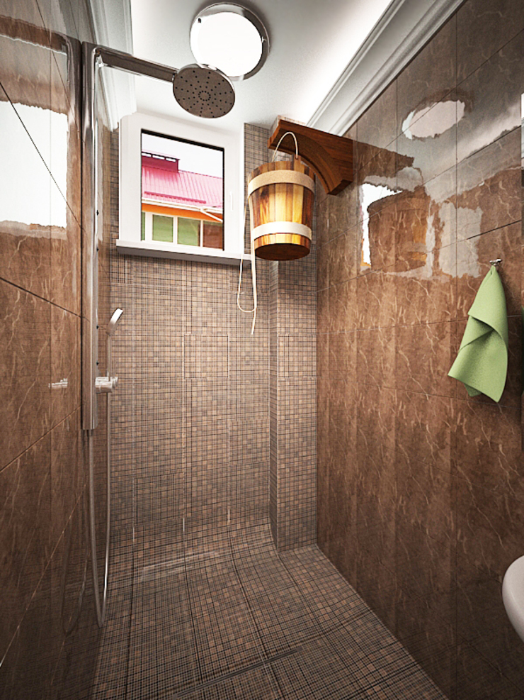 Шик Ванная комната в эклектичном стиле от Дизайн студия Александра Скирды ВЕРСАЛЬПРОЕКТ Эклектичный