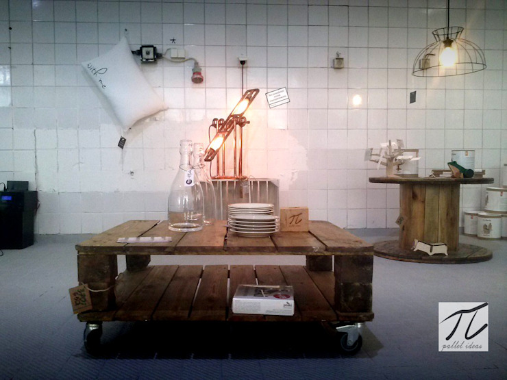 Stolik z palety rustic od Palletideas Skandynawski