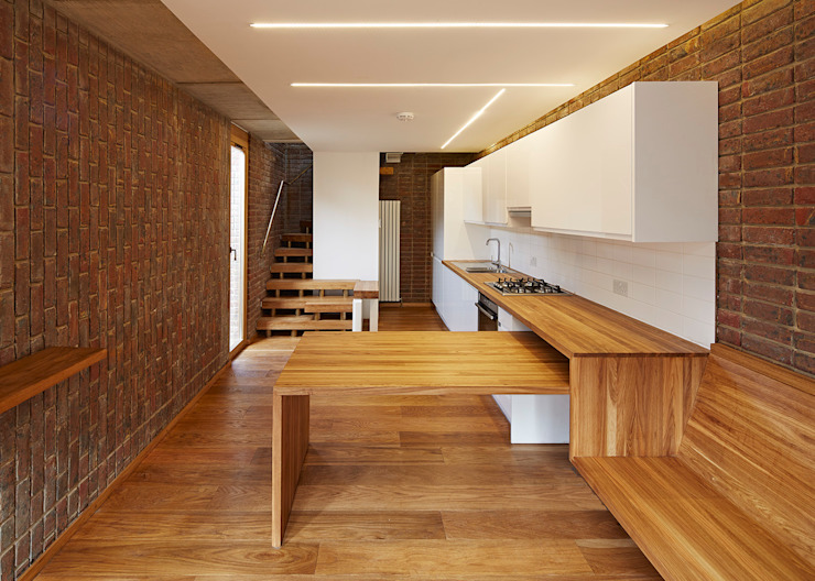 Haringey Brick House Scandinavian style kitchen by Satish Jassal Architects Scandinavian