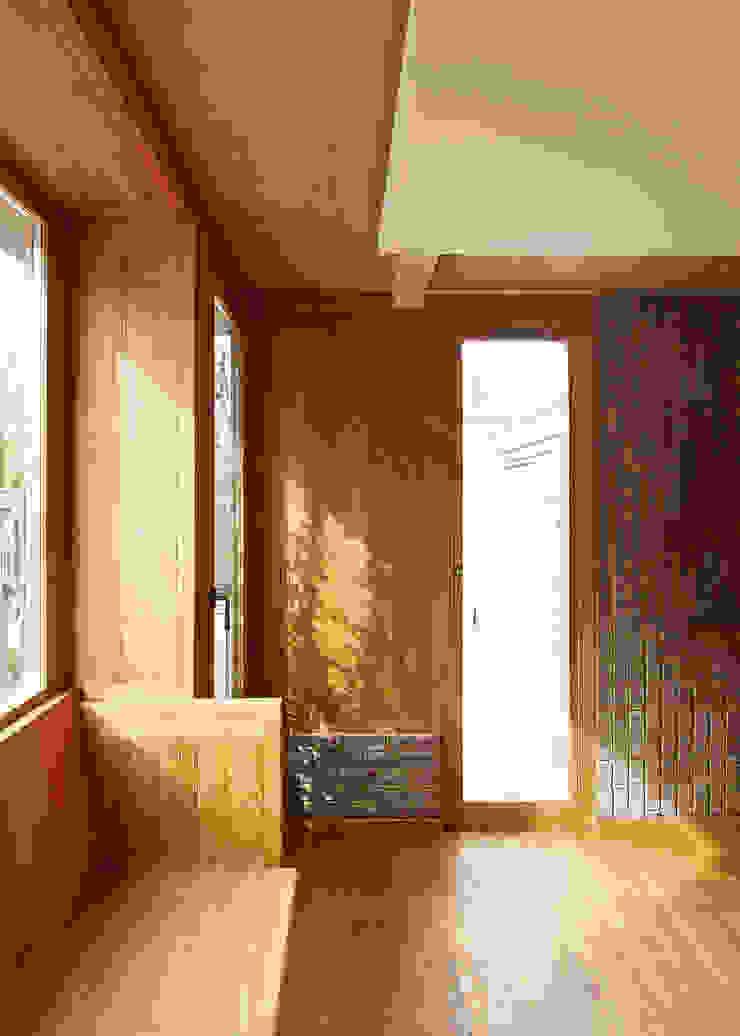 Haringey Brick House Scandinavian style living room by Satish Jassal Architects Scandinavian
