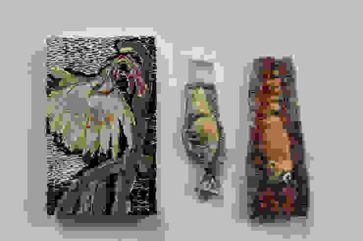 Studio Zipp: Geborduurde portretten in opdracht, textielkunst.:  Kunst  door studio zipp,