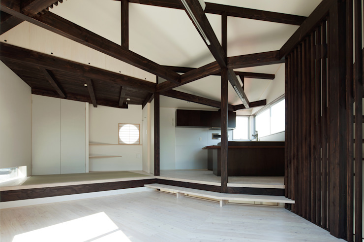 扇翁 モダンデザインの ダイニング の 充総合計画 一級建築士事務所 モダン