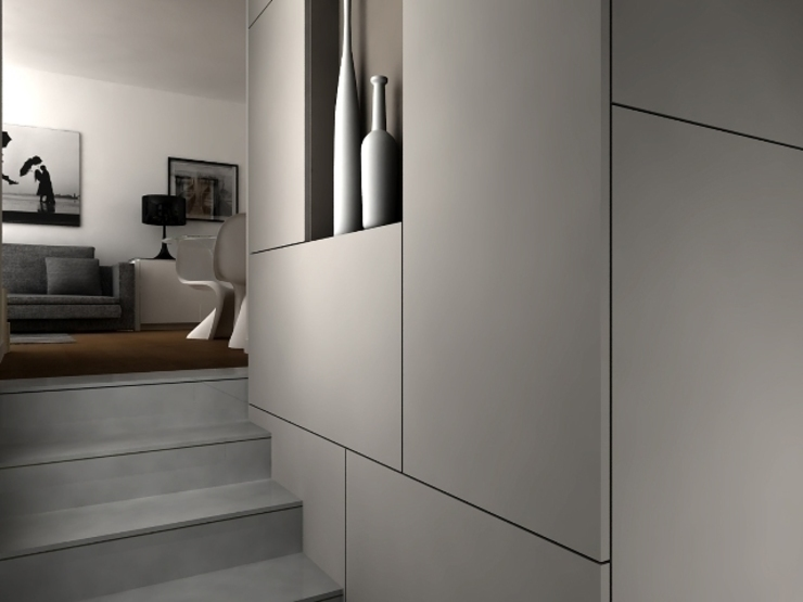 2 Ingresso, Corridoio & Scale in stile minimalista di maps_architetti Minimalista