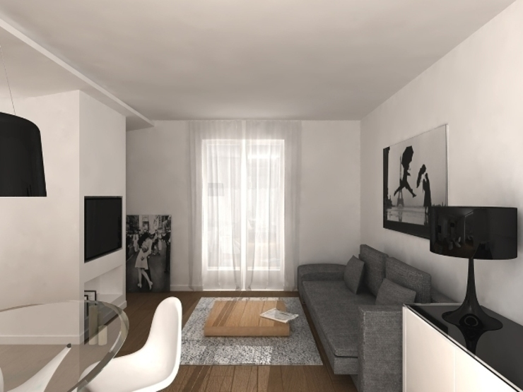 6 Soggiorno minimalista di maps_architetti Minimalista