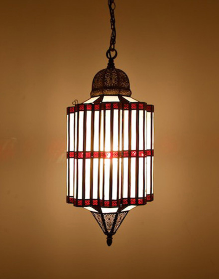 Antique Brass Moroccan Pendant Light di Moroccan Bazaar Mediterraneo