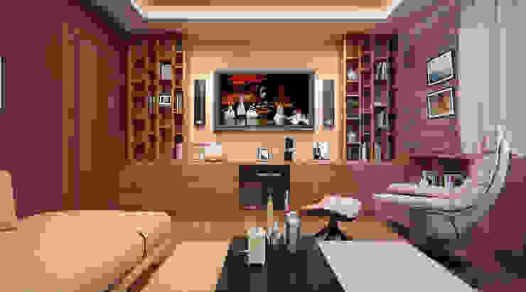 Дизайн-проект интерьера гостиной. Гостиная в стиле лофт от ИнтеРИВ Лофт