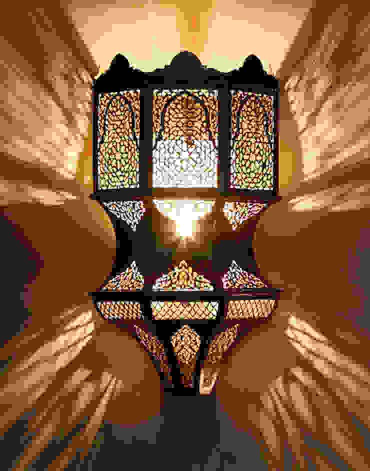 Imperial Pierced Moroccan Wall light in Antique Brass von Moroccan Bazaar Mediterran
