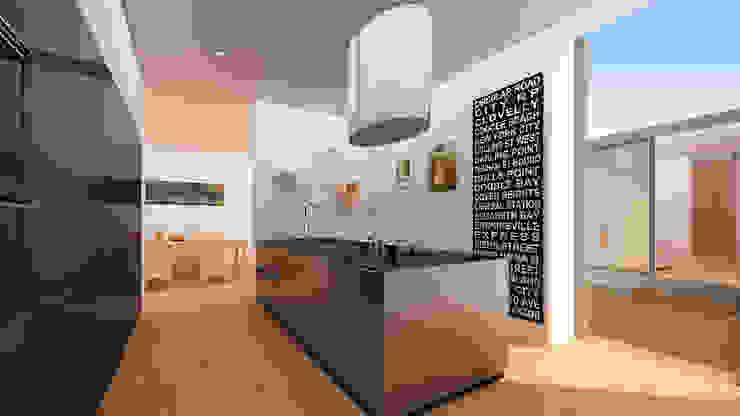 Vivienda 1+1 Baños de estilo moderno de GodoyArquitectos Moderno
