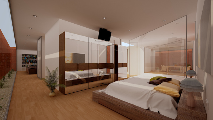 Vivienda 1+1 Dormitorios de estilo moderno de GodoyArquitectos Moderno