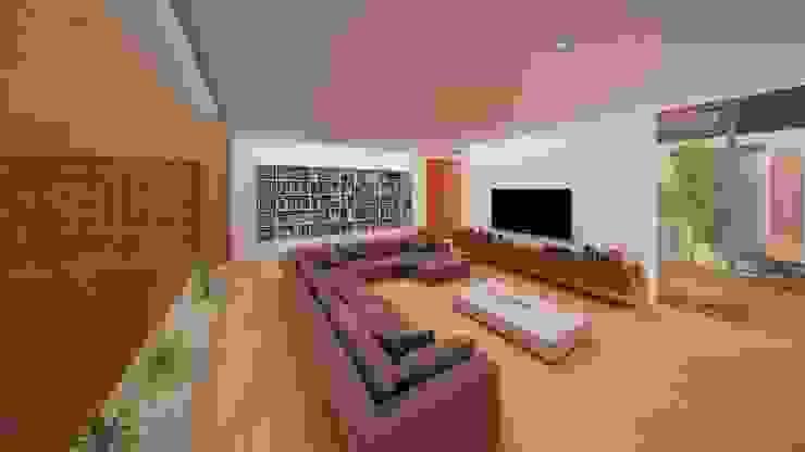 Vivienda 1+1 Salones de estilo moderno de GodoyArquitectos Moderno