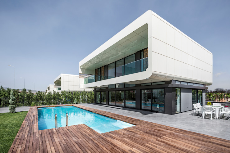 BK House Modern houses by Bahadır Kul Architects Modern