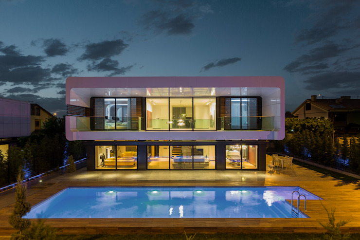 BK House Case moderne di Bahadır Kul Architects Moderno