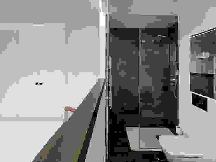 Reforma de apartamento en dos plantas, A Estrada, Pontevedra Baños de estilo minimalista de Ameneiros Rey | HH arquitectos Minimalista