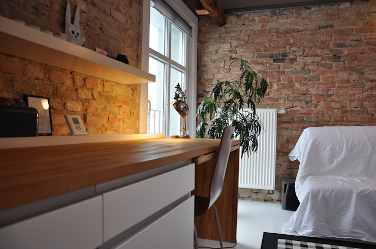 microloft Poznań Industrialny salon od ENDE marcin lewandowicz Industrialny