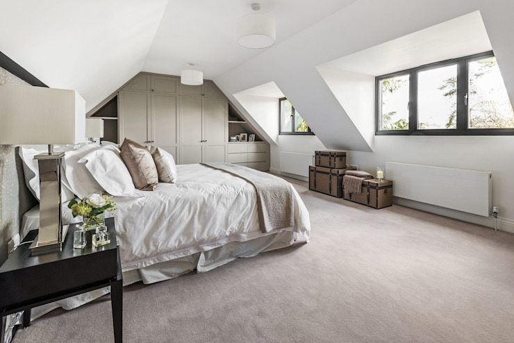 Farnham extension Modern style bedroom by C7 architects Modern