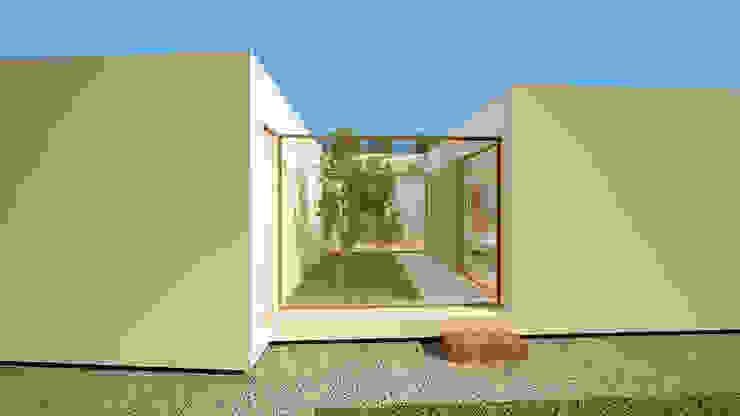 Vivienda Unifamiliar Jardines de estilo moderno de GodoyArquitectos Moderno