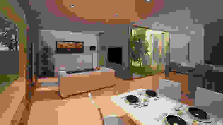 Vivienda Unifamiliar Salones de estilo moderno de GodoyArquitectos Moderno