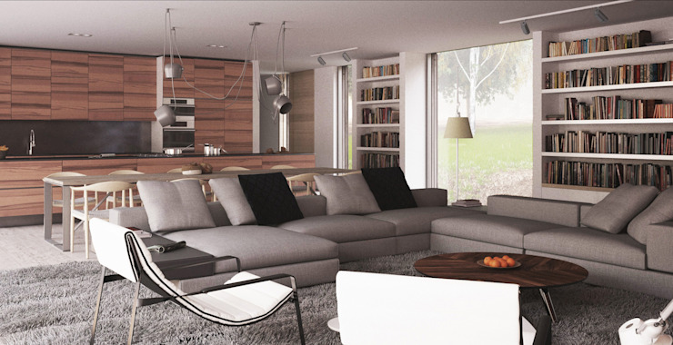 The Quest Modern living room by Strom Architects Modern