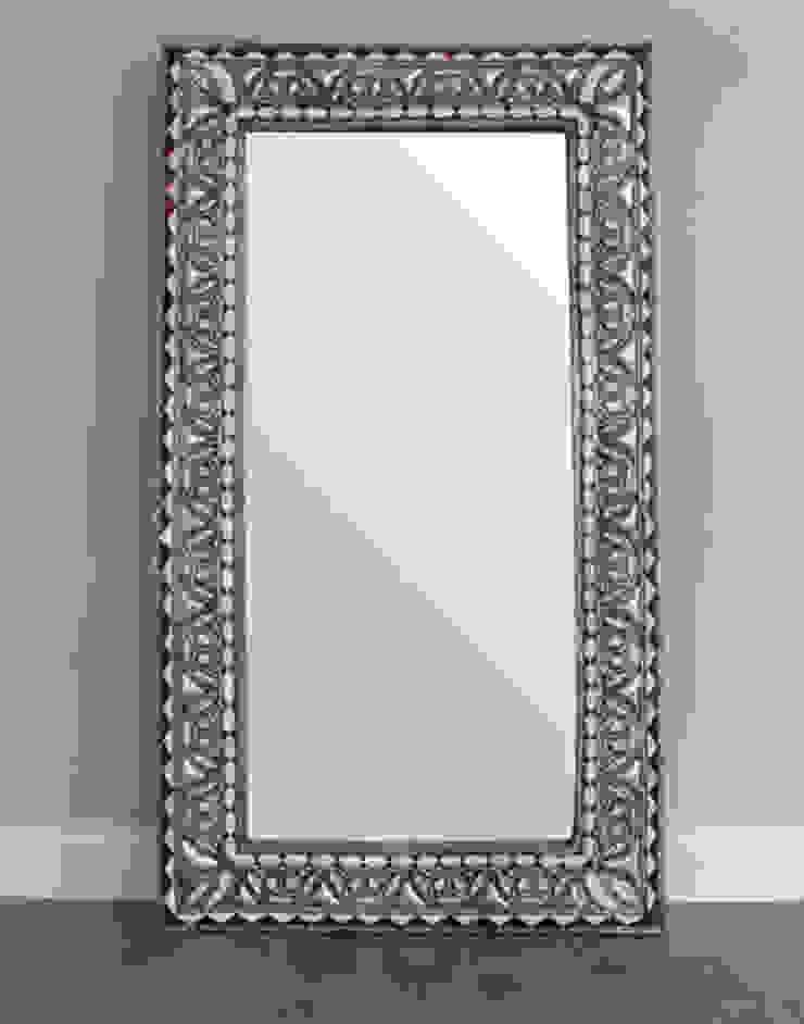 Bone Encrusted Medium Moroccan Mirror: mediterranean  by Moroccan Bazaar , Mediterranean