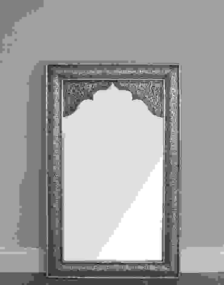 Moroccan Silver Mirror - Antique Finish: mediterranean  by Moroccan Bazaar , Mediterranean
