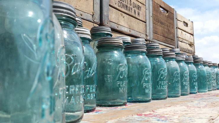 Original Ball Mason Jars Bar & Klub Gaya Rustic Oleh Tramps (UK) Ltd Rustic