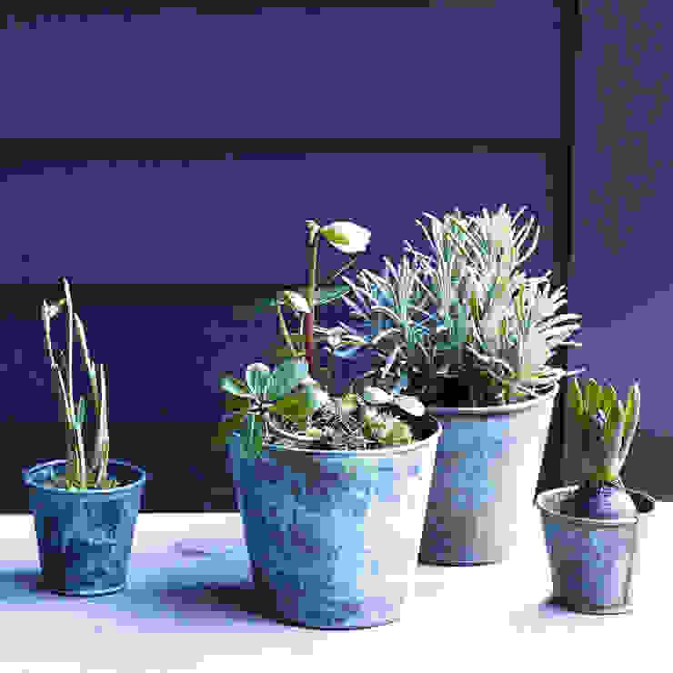 Brent Verdigris Plant Pot von Rowen & Wren Rustikal