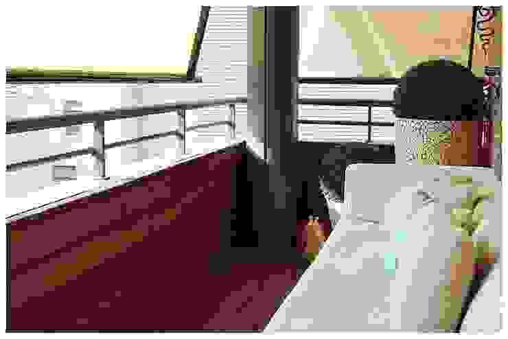 Turquesa Balcones y terrazas de estilo mediterráneo de Cardellach Interior & Events Mediterráneo