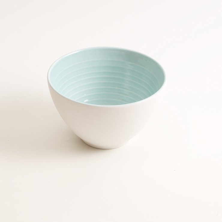Tactile porcelain bowl : modern  by Linda Bloomfield, Modern