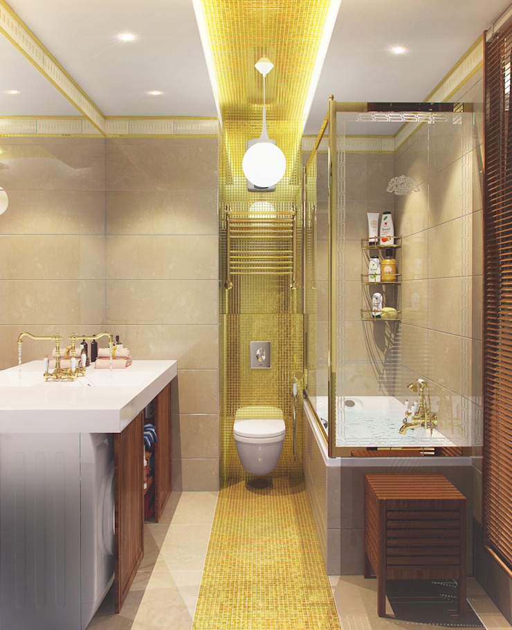 Дизайн-проект ванной комнаты. Ванная комната в стиле модерн от ИнтеРИВ Модерн
