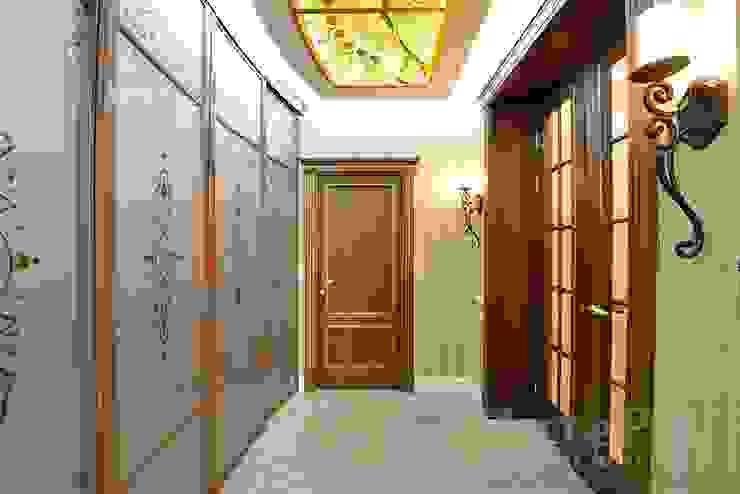 Дизайн-проект интерьера прихожей. Коридор, прихожая и лестница в классическом стиле от ИнтеРИВ Классический