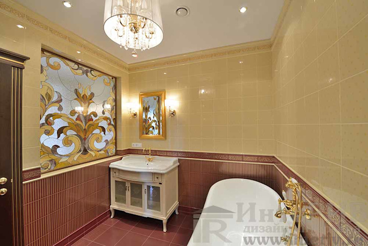Дизайн-проект интерьера ванной комнаты хозяйской. Ванная в классическом стиле от ИнтеРИВ Классический