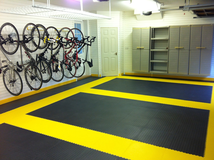 Tiled floor - a great solution for the garage by Garageflex