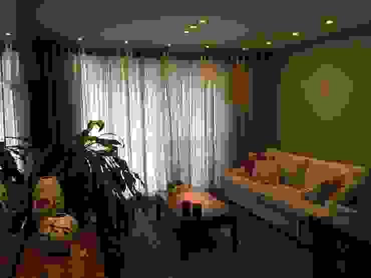 Apartamento CD Roesler e Kredens Arquitetura Salas de estar rústicas