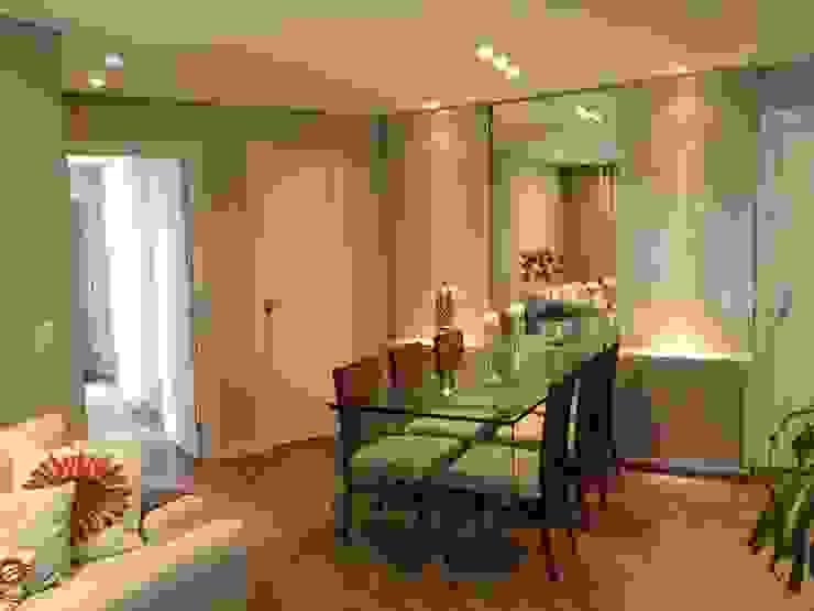Apartamento CD Roesler e Kredens Arquitetura Salas de jantar rústicas