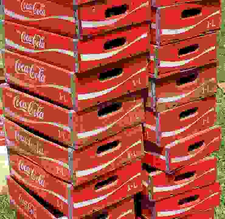 Coke crate, Original vintage crates: rustic  by Tramps (UK) Ltd, Rustic