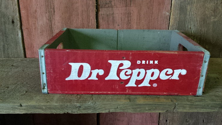 Soda crate, Dr. Pepper, Rare: rustic  by Tramps (UK) Ltd, Rustic
