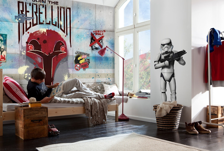 Star Wars Photomural 'Rebels Wall' ref 8-485: modern  by Paper Moon, Modern