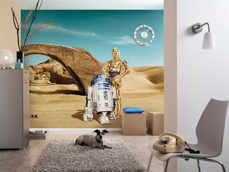 Star Wars Photomural 'Lost Droids' ref 8-484: modern  by Paper Moon, Modern