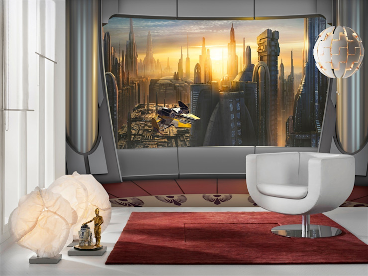 Star Wars Photomural 'Coruscant View' ref 8-483: modern  by Paper Moon, Modern