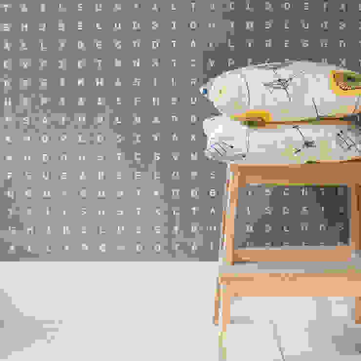 Sugar & Slugs Wallpaper - Grey por Identity Papers Moderno