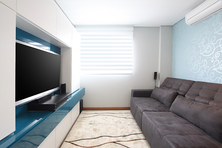 projeto |CM| Salas multimídia modernas por Camila Bruzamolin - arquitetura Moderno
