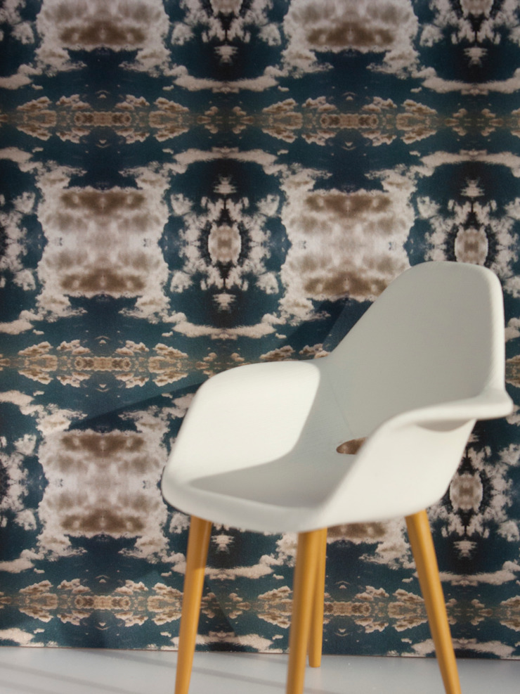 Cloud Rococo Wallpaper - Moody Blue: classic  by Identity Papers, Classic
