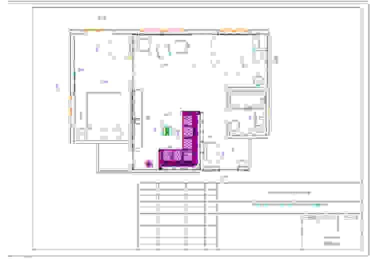 План расстановки мебели с размерами:  в современный. Автор – Мастерская Дизайна, Модерн