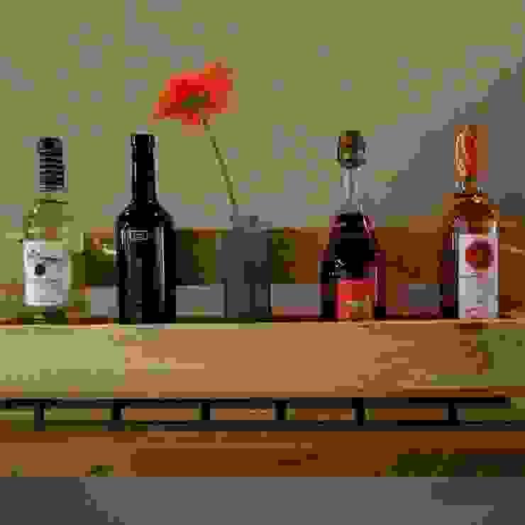 Botellero con reposa copas color madera de Mueblets Moderno