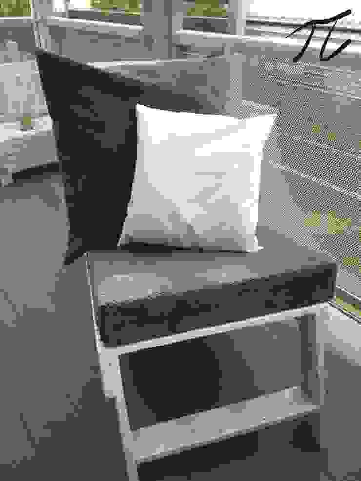 Leżak z palet od Palletideas Skandynawski