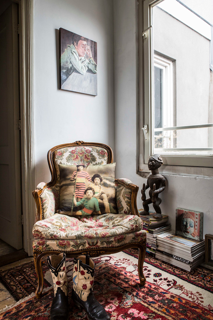 interieur- en kleuradvies Eclectische gangen, hallen & trappenhuizen van studio zipp Eclectisch
